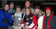 The Air Canada B.C. sales team snowshoeing in 2011