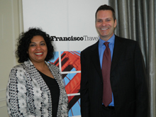 Of the San Francisco Travel Association, Charmaine Singh, country director, Canada, and Tome KIely, executive vice president, tourism