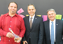 Eric Lorenz, Vancouver International Tequila Expo Organizing Committee, Cesar Mendoza, director, Western Canada, Mexico Tourism Board and Manuel Otero, organizing committee, Vancouver International Tequila Expo